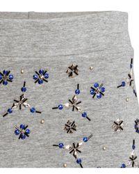 H&M Gray Beaded Sweatshirt Skirt