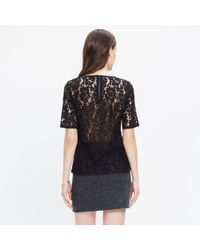 Madewell - Black Lace Refined Tee - Lyst