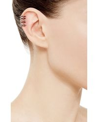 Elise Dray | Amour Cuff Earring With Black Diamonds | Lyst