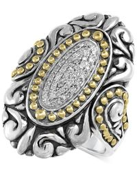 Effy Collection - Metallic Balissima By Effy Diamond Vintage-look Ring (1/8 Ct. T.w.) In Sterling Silver And 18k Gold - Lyst