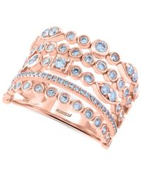 Effy Collection - Pink Pave Rose By Effy Diamond Multi-row Ring (9/10 Ct. T.w.) In 14k Rose Gold - Lyst