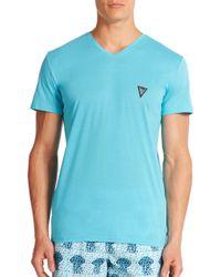Vilebrequin - Blue Classic V-neck Tee for Men - Lyst