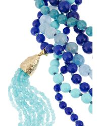 Rosantica Blue Himalaya Golddipped Agate Necklace