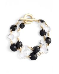 Anne Klein | Black 2-row Toggle Bracelet | Lyst