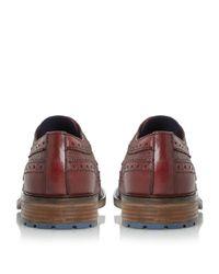 Dune Purple Bongo Chunky Sole Brogue Shoes for men