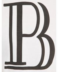 Balmain | White Vinyl Logo Printed Cotton T-shirt for Men | Lyst