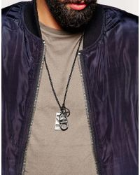 ASOS | Black Interchangeable Pendant Pack for Men | Lyst