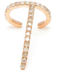 Asherali Knopfer | Metallic 18k Rose Gold 'theo' Diamond Earring | Lyst
