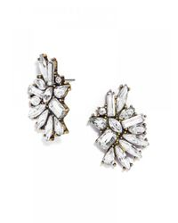 BaubleBar - White Crystal Dolores Studs - Lyst