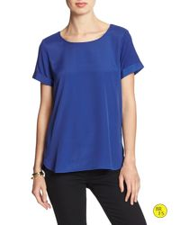 Banana Republic | Blue Factory Rolled-sleeve Tee | Lyst