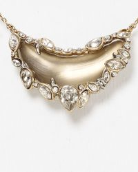 Alexis Bittar - Metallic Lucite Jagged Crystal Framed Crescent Pendant Necklace 14 - Lyst