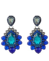 Vickisarge - Blue Adele Earrings - Lyst