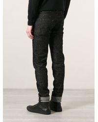 Dolce & Gabbana - Black Embroidered Skinny Jeans for Men - Lyst