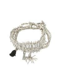 Pieces | Metallic Bracelet | Lyst