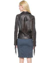 BLK DNM Leather Jacket 10 With Fringe - Black