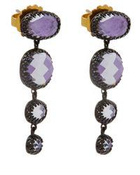 Larkspur & Hawk - Small Purple Tessa Topaz Earrings - Lyst