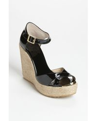 Jimmy Choo Black 'pallis' Wedge Sandal