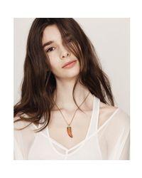 Jenny Bird Orange Wildland Necklace - Small