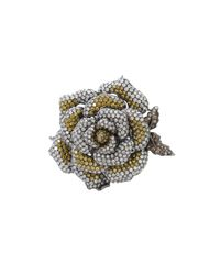 Wendy Yue | Yellow Diamond Flower Ring | Lyst