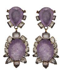 Iradj Moini | Purple Couture Earrings | Lyst