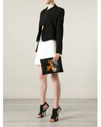 Givenchy Black Bambi Print Clutch