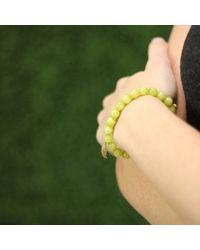 Sydney Evan Yellow Diamond Wing Beaded Bracelet