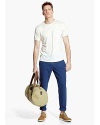 Mango Natural Chest-Pocket Linen T-Shirt for men