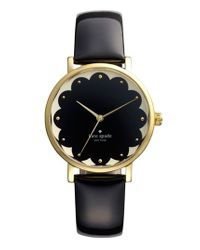 kate spade new york - Black 'metro' Patterned Dial Watch - Lyst