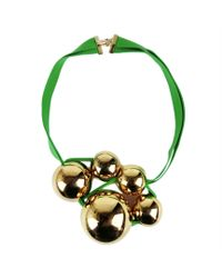 Marion Vidal - Green And Gold Necklace - Lyst