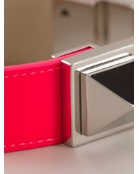 Saint Laurent - Pink Studded Bracelet - Lyst