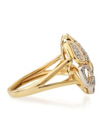 KC Designs - Metallic 14k Freeform Cutwork Diamond Ring - Lyst