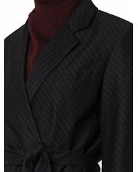 Alexander Wang Gray Pinstripe Flannel-wool Blazer