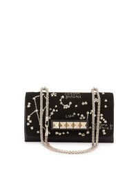Valentino - Black Va-Va-Voom Embroidered Shoulder Bag - Lyst