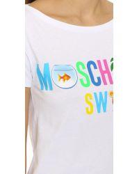 Moschino White Swim Top