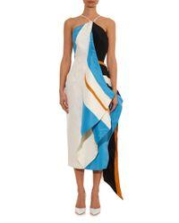 Rosie Assoulin | White Calatrava Striped Halterneck Dress | Lyst
