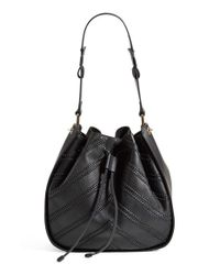 Vince Camuto | Brown Chevron-Detail Leather Hobo Bag  | Lyst