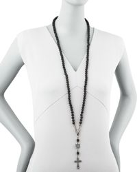 Love Heals   Long Rosary Necklace Black   Lyst