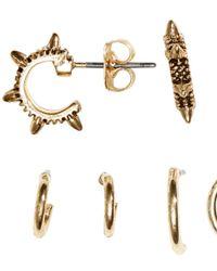 H&M Metallic 6 Pairs Mini Creole Earrings