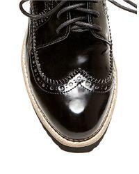 Steven by Steve Madden | Black Steffan Leatherette Oxfords | Lyst