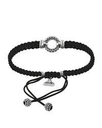 Lagos - Metallic Sterling Silver Caviar™ Braided Circle Game Cord Bracelet - Lyst