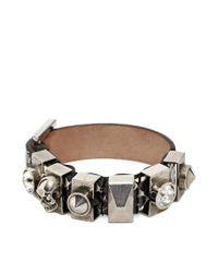 Alexander McQueen | White Metal Loop Bracelet | Lyst
