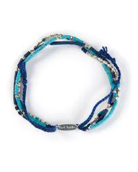 Paul Smith | Blue Beaded Bracelet for Men | Lyst