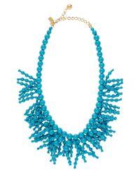 kate spade new york | Blue Fringe Appeal Necklace | Lyst