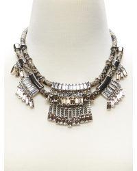 Banana Republic Metallic Leather Fringe Necklace