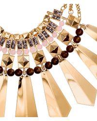 H&M - Metallic Wide Necklace - Lyst