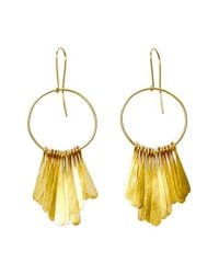 Soko | Metallic Fringe Earrings - Brass | Lyst
