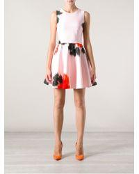 MSGM Pink Msgm Printed Neoprene Dress