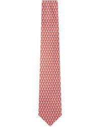 Ferragamo | Star Eyed Owl Silk Tie, Men's, Red for Men | Lyst