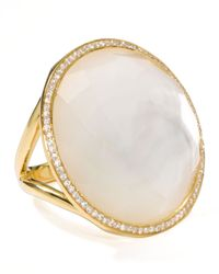 Ippolita | Metallic 18k Gold Rock Candy Large Lollipop Diamond Mother-of-pearl Ring | Lyst