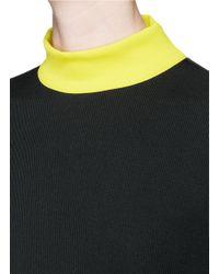 Tanya Taylor - Black 'tori' Rib Knit Turtleneck Sweater Dress - Lyst